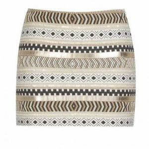 🔥Zara Trafaluc Beaded Mini Skirt